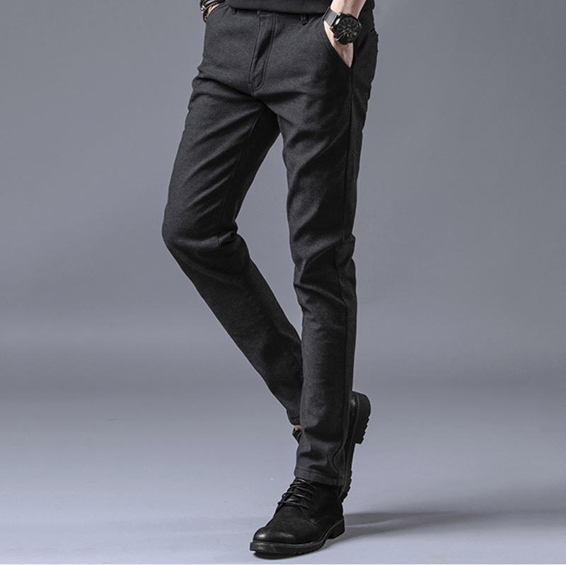 Large Size Casual Men's Trousers Large Size Men Pants Summer Thin Casual Pants Male Youth Slim Stretch Library