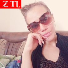 ZT Vintage Oversize Square Sunglasses Women Men Luxury Brand Black Brown Big Celebrity Shades Oculos