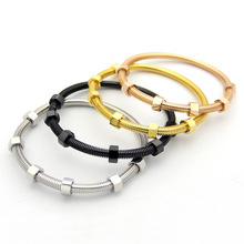 New trend jewelry titanium steel bracelet titanium steel screw rotation lucky bracelet nut rotating bracelet