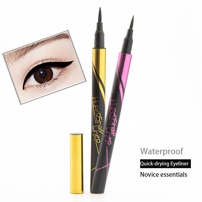 Quick-drying Eyeliner Black Long Lasting Eye Liner Pencil Waterproof Eyeliner Smudge-Proof Cosmetic Beauty Makeup Liquid TSLM1