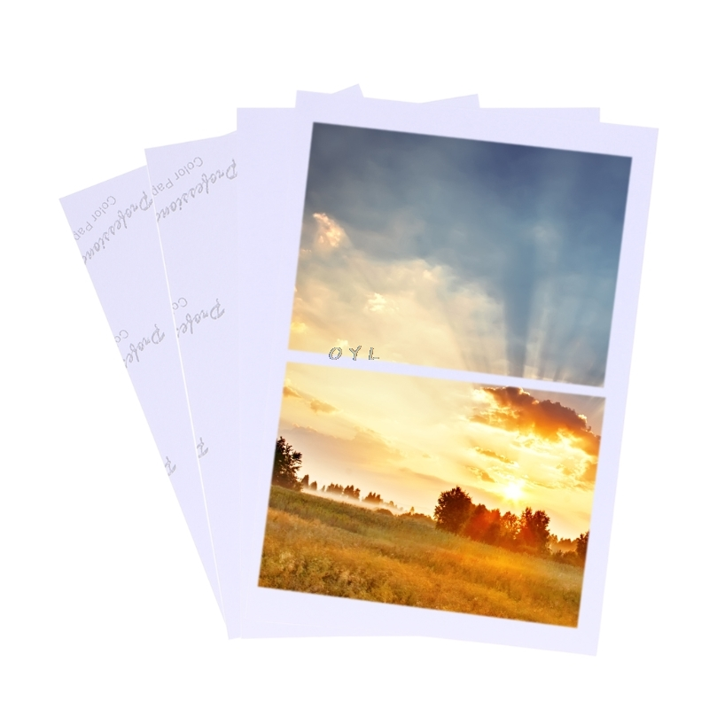 100 Sheets Of Photo Paper For 4R 3R 5R 6R 8R A3 A4 A5 A6 Inkjet Printer, Providing Color Coated Photo Paper