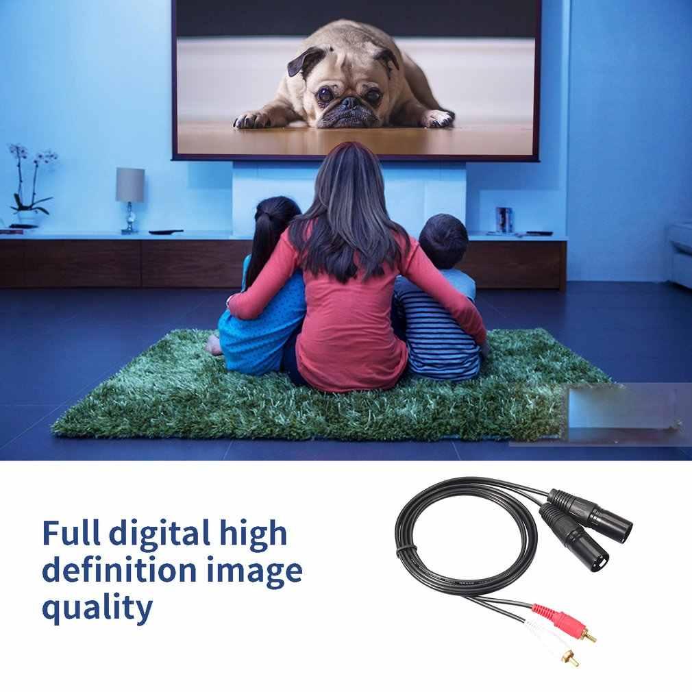 Подходит для подключения двойной Rca к Xlr Мужской кабель 2 Xlr к 2 Rca телефон Hifi штекер стерео аудио микрофонный кабель