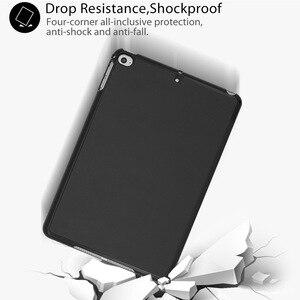Image 2 - Voor Ipad Mini 4 5 2019 Case Met Potlood Houder, Voor Ipad Mini 1 2 3 Siliconen Cover, stand Pu Leather Funda Auto Sleep Capa