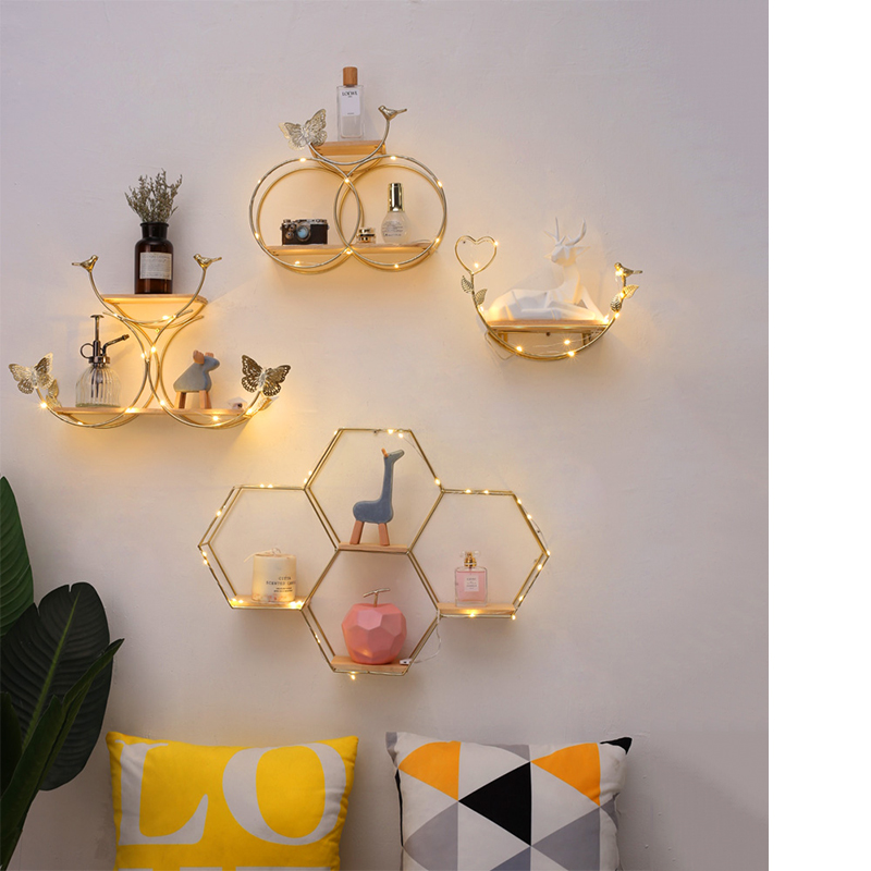 Nordic Creative Home Wall Decoration Living Room Bedroom Dining Room Wall Decoration Shelf