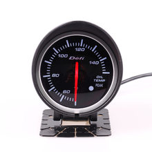 "2.5"" Defi BF Universal 60MM Oil Temp Gauge Meter Red & White backlight Adjustable 50~150 Degrees With Sensor()"