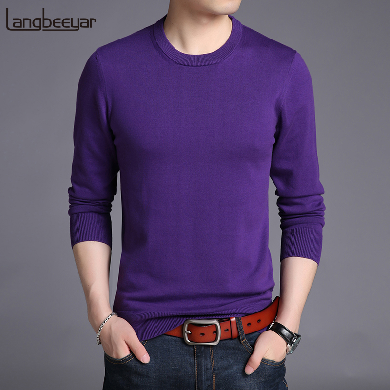 2019 New Fashion Brand Sweaters Mens Pullover Patterns Slim Fit Jumpers Knitting O-Neck Autumn Korean Style Casual Clothing Men