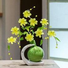 Europejski nowy rok 5 kolorów kwiat kwiat figurki ceramika o wysokach jakość moda do domu