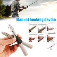 Оптовая продажа, быстро Завязывающийся крючок для лески, быстрое завязывание узлов, инструмент для ручной вязки, инструмент для рыбалки X85