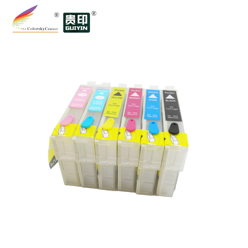 RCE-IC6CL50) многоразовый картридж с чернилами для принтера Epson IC6CL50 EP-901A EP-901F EP-902A PM-A820 bk/c/m/y/lc/lm dhl