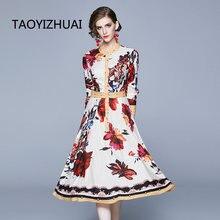 Женское платье в богемном стиле Платье До Колена с круглым вырезом