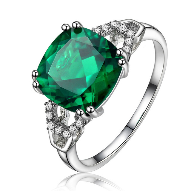 Bague Ringen New 100% 925 Sterling Silver Natural Ruby Sapphire Emerald Gemstone Wedding Engagement Cocktaill Ring Jewelry Gift 2