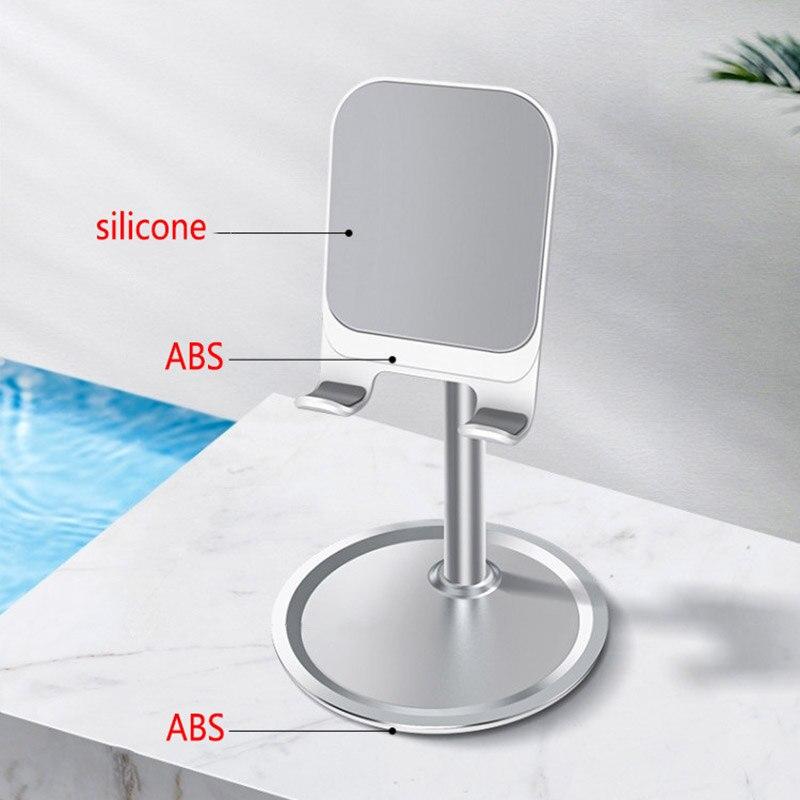 ABS Universal Adjustable Desktop Cell Phone Holder Tablet Mobile Desk Mount Phone Holder Stand Support