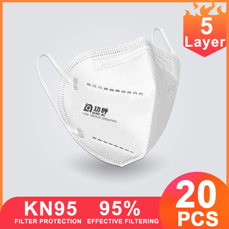 20pcs KN95 FFP3 Face Masks Protective N95 Mouth Mask Respirator Health Mask FFP2 Antivirus Kn 95 4 Layer Kf94 Ffp