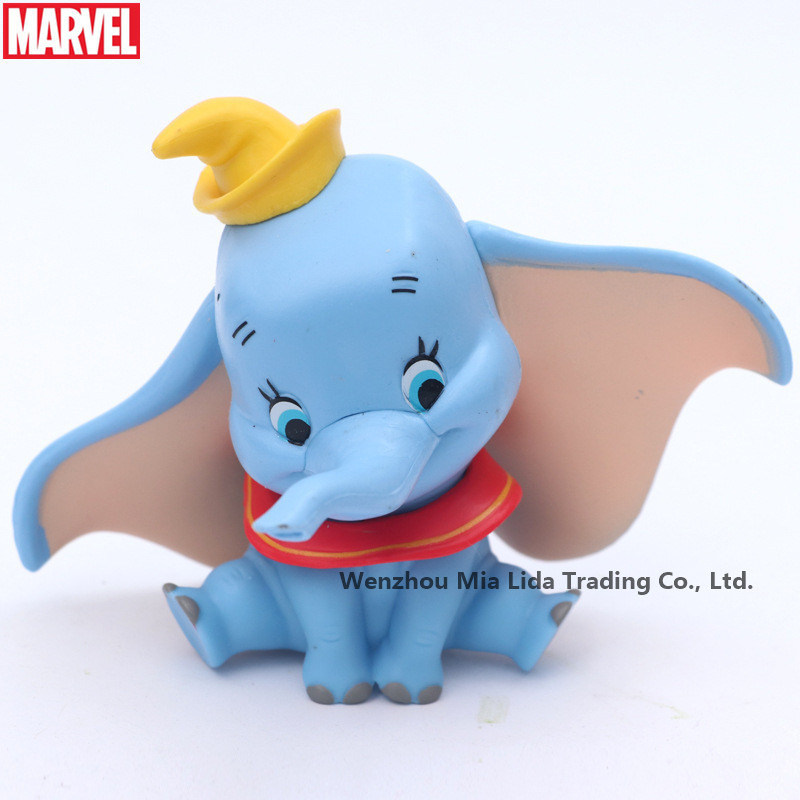 Hasbro Lovely crown flying elephant Danbo Dumbo children doll doll handmade ornaments in Action Toy Figures from Toys Hobbies