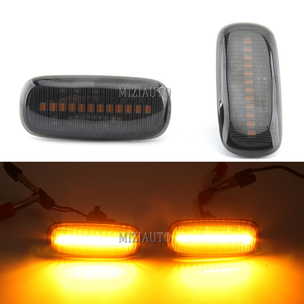 2pcs Led Dynamic Blinker Side Marker Lights For <font><b>Audi</b></font> A3 S3 <font><b>A8</b></font> <font><b>D2</b></font> TT 8N Flowing water Turn Signal Light Sequential Lamps image
