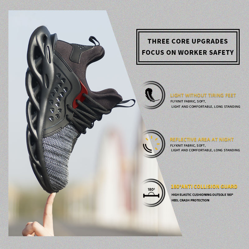 2020 Steel Toe Cap Men Safety Shoes Work Sneakers Women Boots Plus Size Breathable Outdoor Shoes Militares Industriales Botas