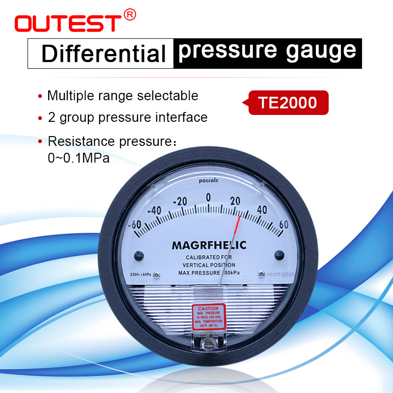 High precision Air differential pressure gauge vacuum Manometer micro pressure gauge Measuring range 0-30PA 0-30KPA for choice