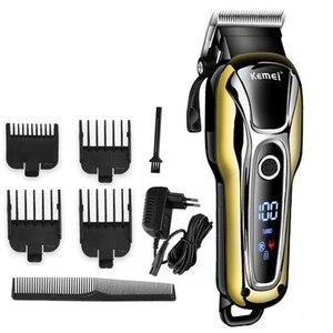 Image 1 - Kemei машинка для стрижки волос KM2600 электрический триммер для волос мощная машинка для бритья волос профессиональная машинка для стрижки волос электрическая бритва для бороды 5