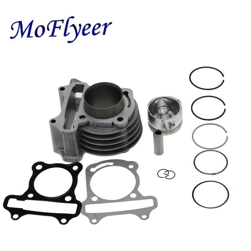 MoFlyeer GY6-Kit de gran cilindro, 39mm, 44mm, 47mm, 50mm, juego de anillos de pistón para Scooter, ciclomotor 139QMB GY6 50 60 80 100 CC