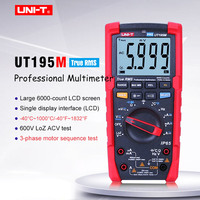 Industrial Digital Multimeter UT195M;AC DC volt current meter;AC voltage current frequency response/3 phase motor sequence test