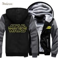 Star Wars Hoodie Sweatshirt Men 2018 New Fashion Winter Warm Fleece Thick Zipper Hooded Hoodies Jackets Hoody Male Plus Size 5XL