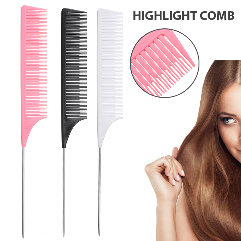 Plastic Heat-resistant Fine Section Weave Foiling Highlight Hair Comb