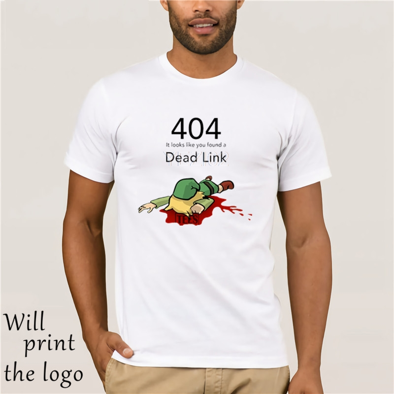 T <font><b>shirt</b></font> Top <font><b>Errore</b></font> <font><b>404</b></font> Zelda Link Morti Mens White t camicie Adolescenti Girocollo Tee <font><b>Shirt</b></font> Geek Adolescente T <font><b>Shirt</b></font> Vintage image