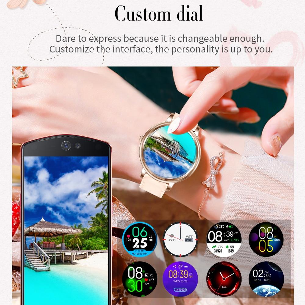 MK20 Smart Watch 2020 Full Touch Screen Smartwatch da donna diametro 39mm per donna e ragazza compatibile con Android e IOS 2
