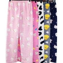 Pajama-Pants Loose Flannel Coral-Fleece Warm Women's New Comfortable