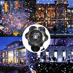 Opady śniegu projektor laserowy na boże narodzenie światła na zewnątrz gwiazda płatki śniegu na zewnątrz lampa sceniczna led ślub pejzaż z ogrodem światła