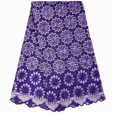 Lace-Fabric Nigerian Dress Swiss Cotton-Material High-Quality for Women
