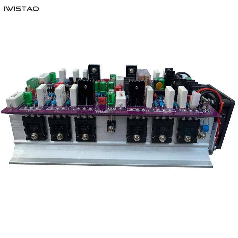 IWISTAO 2X200W HIFI Classic Class A ON MJL4281/4302 Discrete Component Stereo Power Amplifier Finished Board image