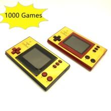Console de jeu rétro Portable de 3 pouces, avec 1000 jeux intégrés, sortie AV, Rechargeable