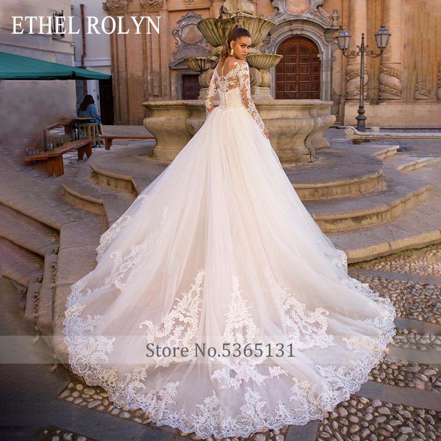 Image 2 - Detachable Mermaid Wedding Dresses Long SLeeve Vestido De Novia 2020 ETHEL ROLYN Sexy Sweetheart Bride Champagne Wedding GownsWedding Dresses   -