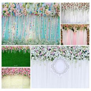 Image 1 - Foto Kulissen Bunte Blumen Bänder Vinyl Tuch Hintergrund für Hochzeit Liebhaber Valentinstag Photo Fotografie Requisiten