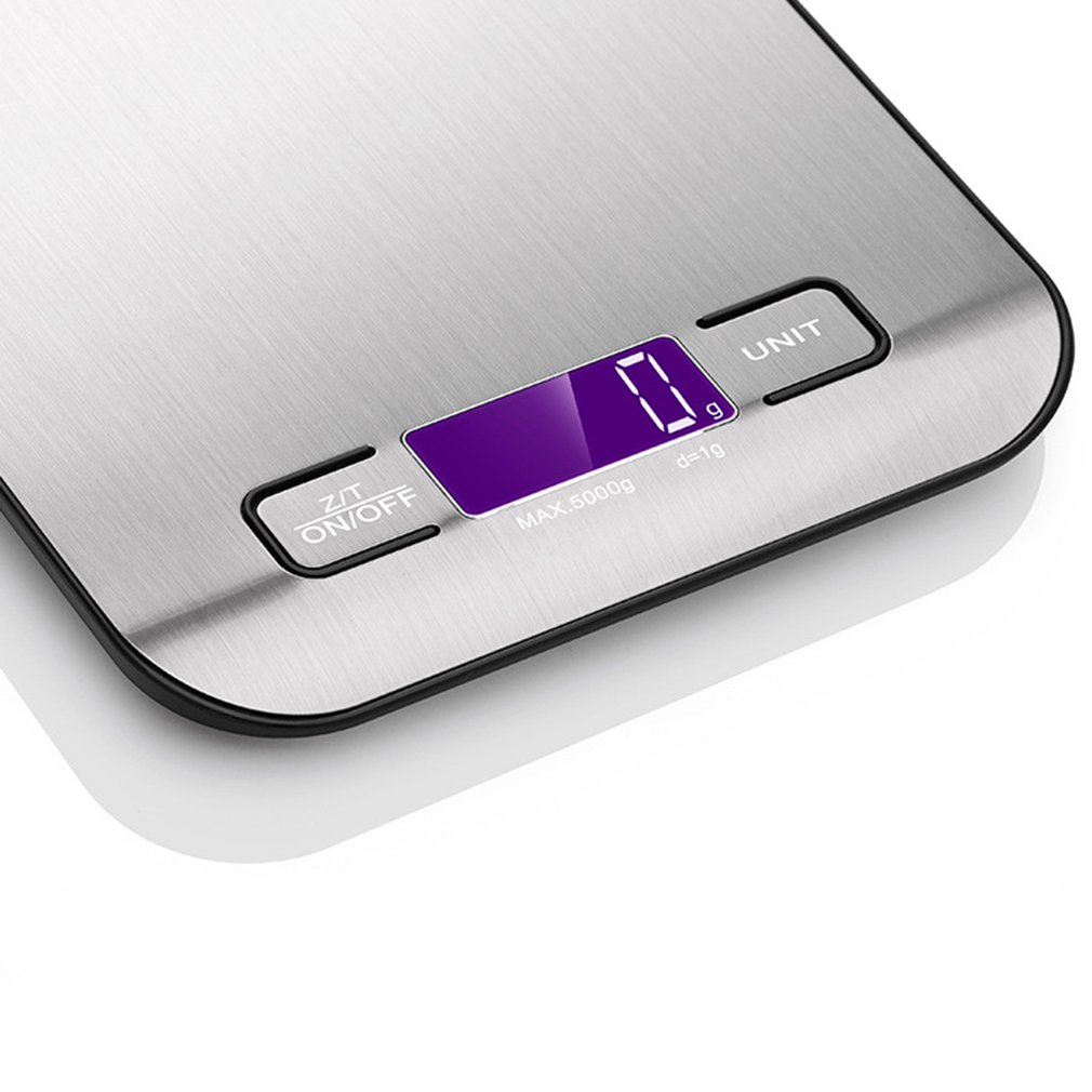 Flat Kitchen Food Stainless Steel Food Scale Kitchen Household Scale Electronic Scale Gram Weight Scale