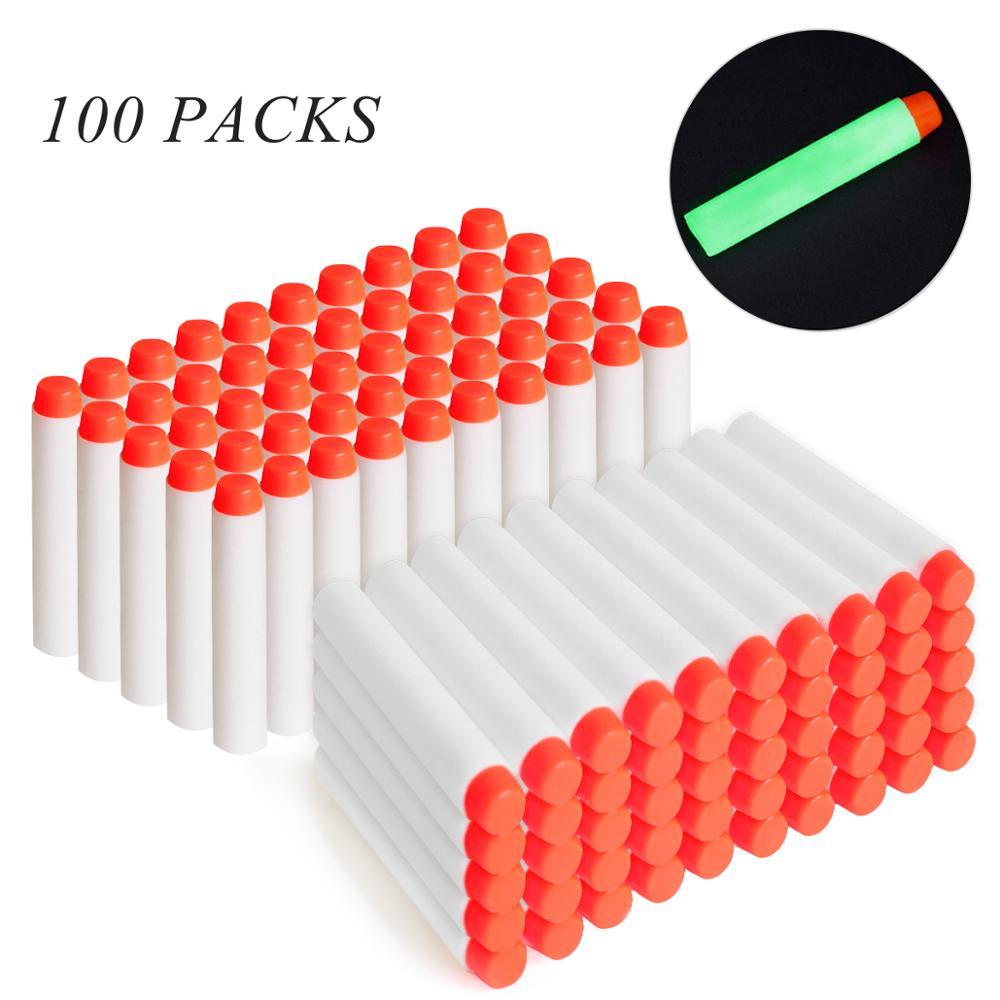 100 шт., светящиеся мягкие пули для Nerf, 7,2 см