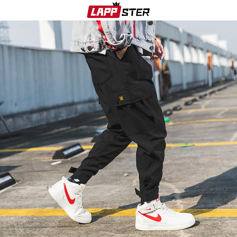 LAPPSTER Japanese Streetwear Pockets Jogger Pants Men 2019 Overalls Mens Hip Hop Summer Pants Male Ankel-lengthe Sweaptpants 5XL