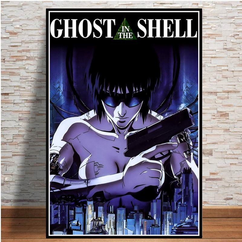 Ghost In The Shell Japan Anime Posters And Prints Canvas Painting Wall Art Picture Vintage Poster Decorative Home Decor Quadro Painting Calligraphy Aliexpress