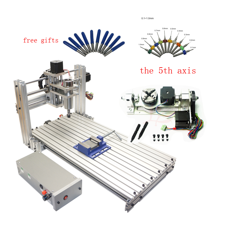 DIY 5axis CNC Milling Machine CNC 6030 Engraver Engraving Cutting Machine 400W USB Port Support Win 8 10 For Woodworking