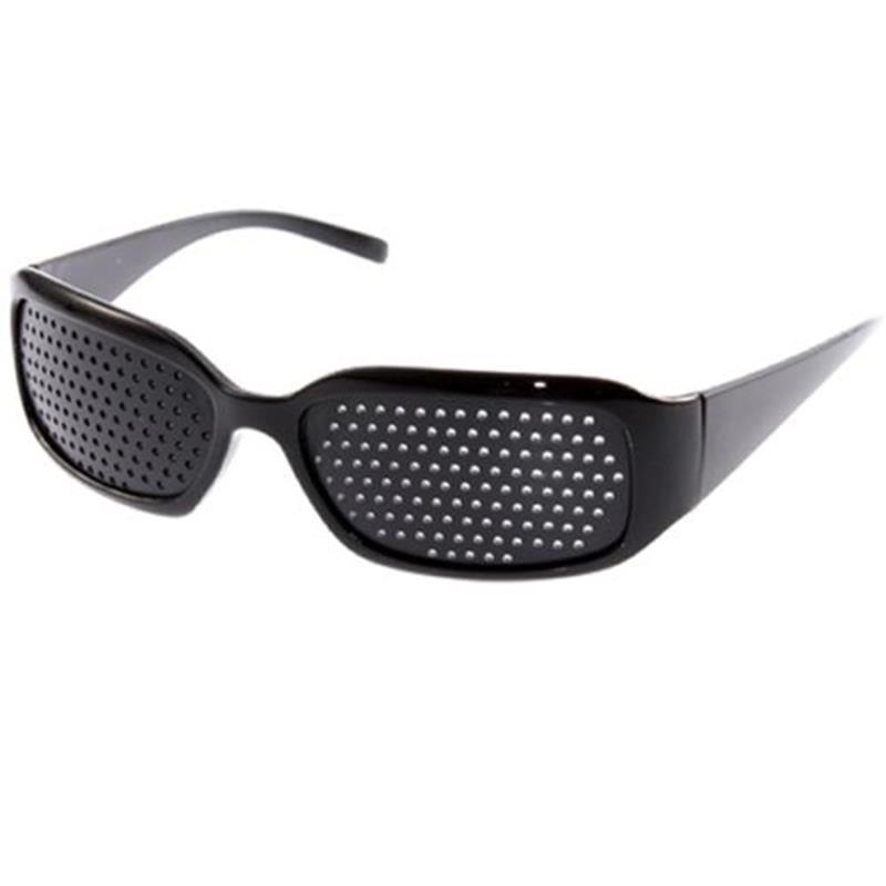 New Arrival Black Unisex Vision Care Pin Hole Eye Exercise Eyeglasses Pinhole Glasses High Quality Eyesight Improve Plastic