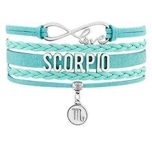 Aries Taurus Gemini Cancer Leo Virgo Libra Scorpio Sagittarius Capricorn Aquarius Pisces Wrap Girls Boys Men Bracelets