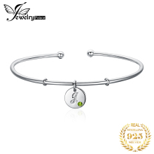 Letter Silver Bracelet Charm Cuff Bangles 925 Sterling Bracelets For Women Jewelry Making Organizer