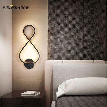 Black Creative Modern Led Wall Light 110V 220V Sconce Wall Lamp for Bedroom Living room Dining room Bedside Light Wall Led Lamps 1