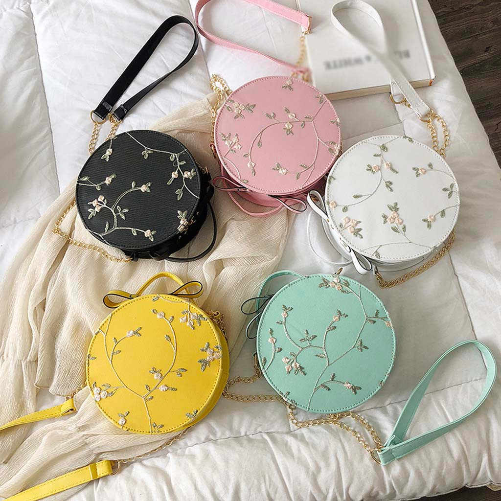 MUQGEW Crossbody sacos para as mulheres sacos de Moda Saco Crossbody Bolsa pequena Renda Fresco Cor Sólida Pequeno Saco Rodada principal sac femme