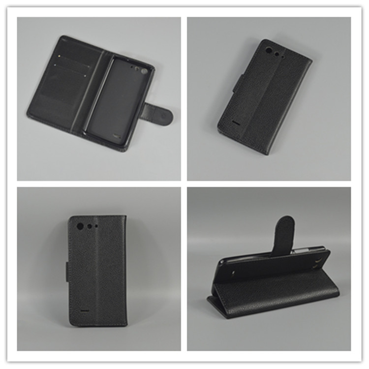 For ZTE Blade A511 A515 A 511 A 515 Litchi leather case cover stand function for with 2 Card Holder and pouch slot image