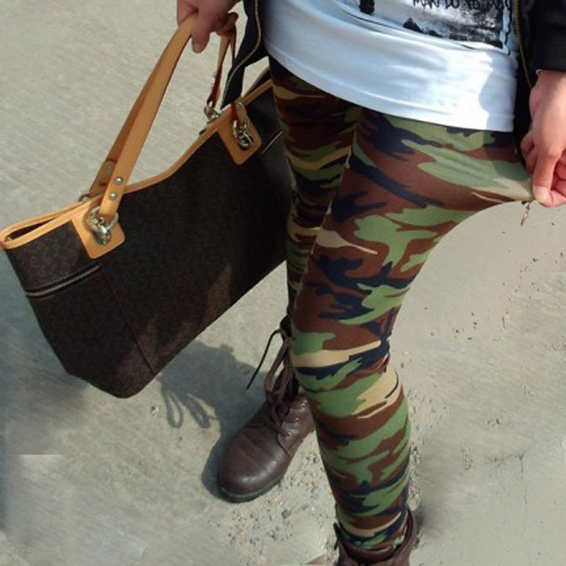 Women Camouflage   Legging   Summer Fashion Design Sexy Army Pant High Waist Elasticity Military Soft Trouser