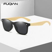 Поляризованные солнцезащитные очки fuqian с бамбуковой древесиной