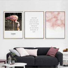 Scandinavian Art Flamingo Animal Posters And Prints Wall Art Canvas Painting Wall Pictures For Living Room Nordic Decor Picture  - buy with discount