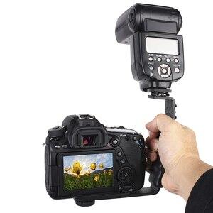 Image 5 - Аксессуары для камеры L, кронштейн для вспышки с 2 креплениями для горячего башмака для видеокамеры, микрофона, Dslr, Canon/Nikon/Sony/Yongnuo/Подставка для вспышки